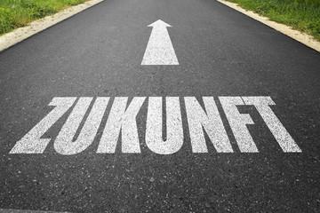 """Straße mit dem Wort """"Zukunft"""""""