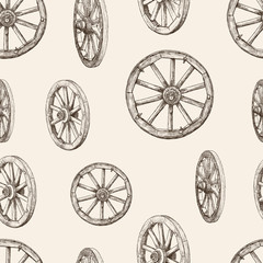 pattern of wooden wheel