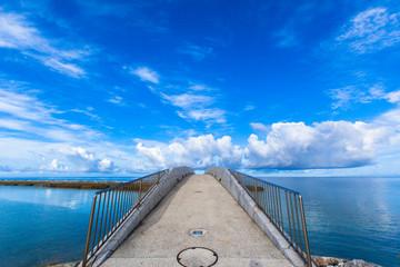 Arched bridge over the sea