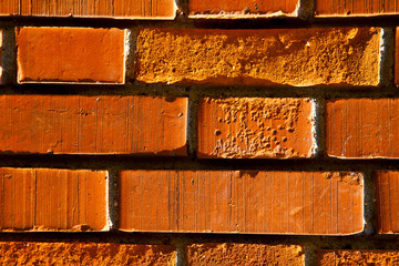 old wall  brick in  varese italy
