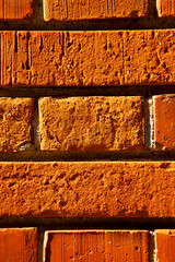 old wall  brick in the    varese italy
