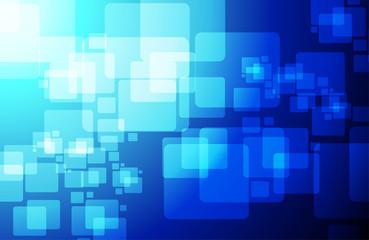 blue technology cubes modern illustration