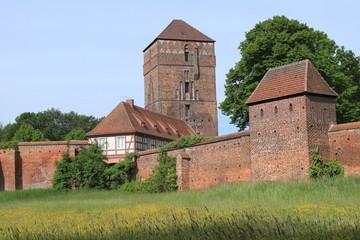 Wittstocker Stadtmauer an der Alten Bischofsburg
