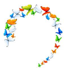 Butterflies in a circle