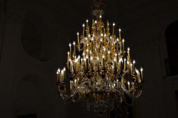 Crystal, elegant chandelier