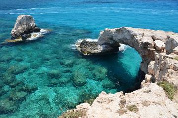 Garden Poster Cyprus Rock arch. Ayia Napa, Cyprus