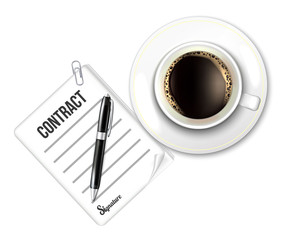 Coffee Cup and Contract