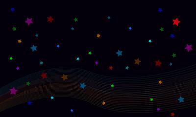 illustration color stars background