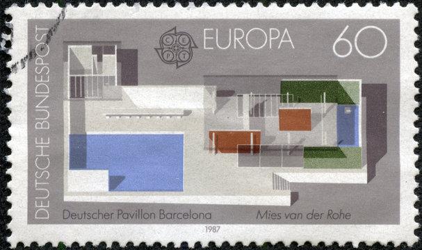 German Pavilion, designed by Ludwig Mies van der Rohe