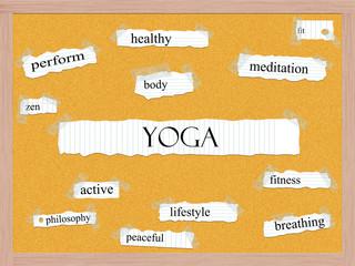 Yoga Corkboard Word Concept