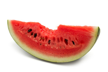 Slice of sweet bite watermelon on isolated background