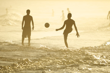 Brazilians Playing Altinho Keepy Uppy Soccer Football Rio