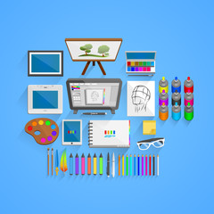 Vector drawing tools style