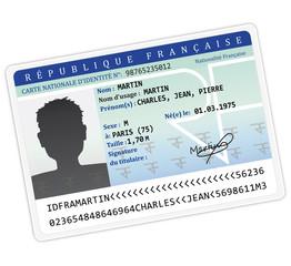 Carte d'identité nationalité française III.