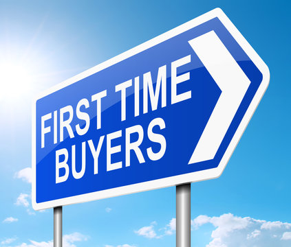 First time buyer concept.