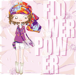 fashion hippie girl