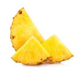 pineapple slices isolated on white
