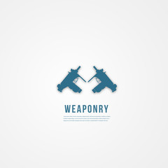 Abstact weapon template. Flat icon.