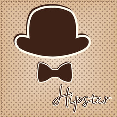Bowler hat and bow tie