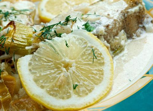Halibut in Lemon Cream