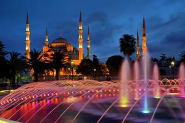 Bluemosque in evening-Sultanahmet-istanbul