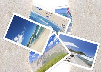 photos de la Réunion sur le sable des plages