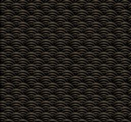 Japanese Gold Wave Seamless Pattern