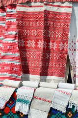 Belarusian towels with traditional ornament