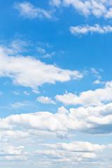 Keuken foto achterwand Hemel many white puffy clouds in blue sky