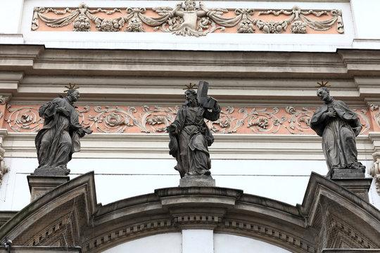 Sculpture of church of St. Ignatius