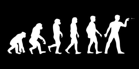 Vom Affen zum (Menschen) Dart Spieler