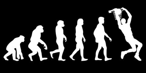 Vom Affen zum (Menschen) Basketball Spieler