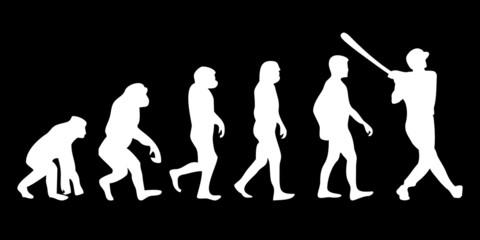 Vom Affen zum (Menschen) Baseball Spieler