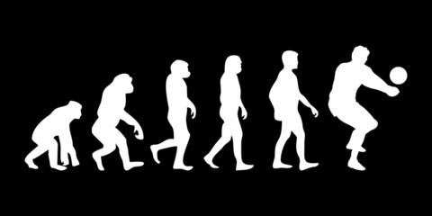 Vom Affen zum (Menschen) Volleyballer