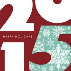 2015 New Year Greetings Card.