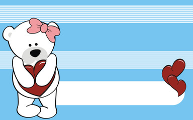 polar bear girl cartoon love wallpaper