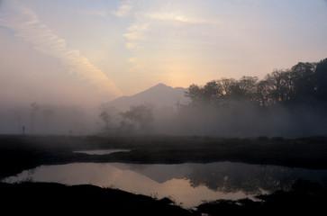 明ける尾瀬ヶ原
