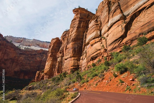Wall mural Zion Park Scenic Road