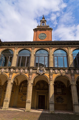 Old library building, city of Bologna