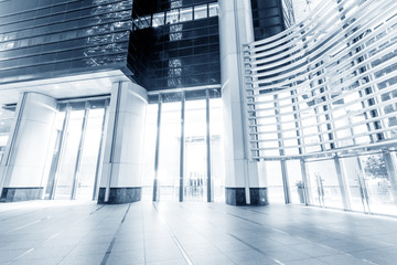 modern office entrance