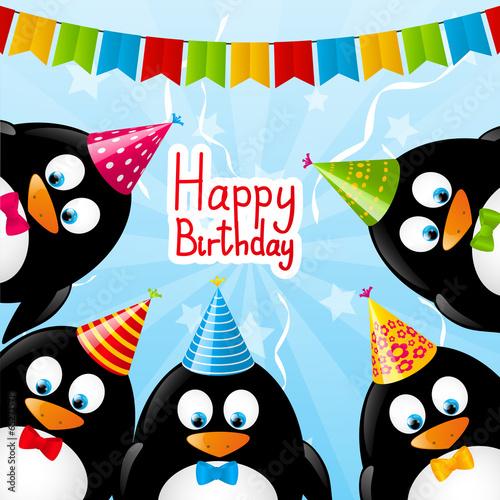 Поздравление с днем рождения с пингвинами