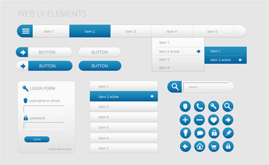 modern web ui elements
