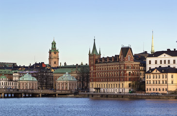 view of Gamla Stan  and Riddarholme, Stockholm
