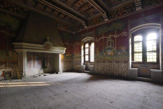 abandoned medieval room