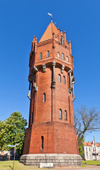Water tower (1905) in Malbork, Poland