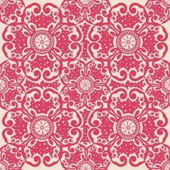 ornate seamless pattern, decorative vector wallpaper