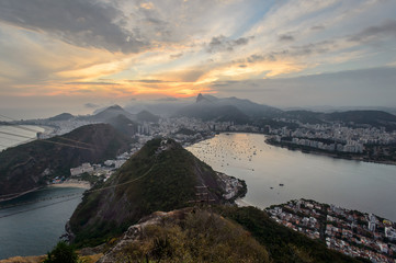 Wall Mural - Sunset view of Rio de Janairo, Brazil