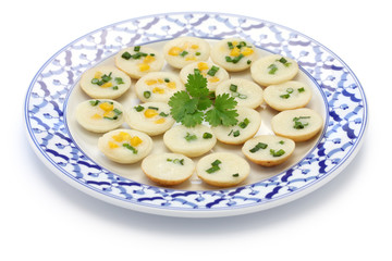 khanom krok, thai sweet, coconut rice pudding