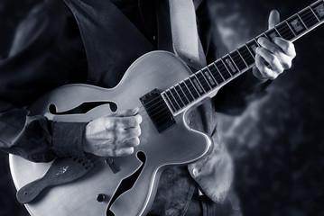 Wall Mural - playing jazz guitar