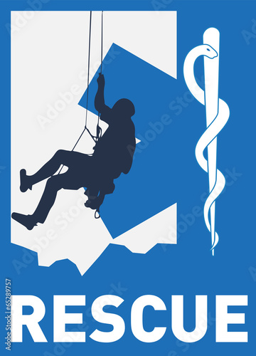 mountain medical rescue logo stock image and royalty free vector